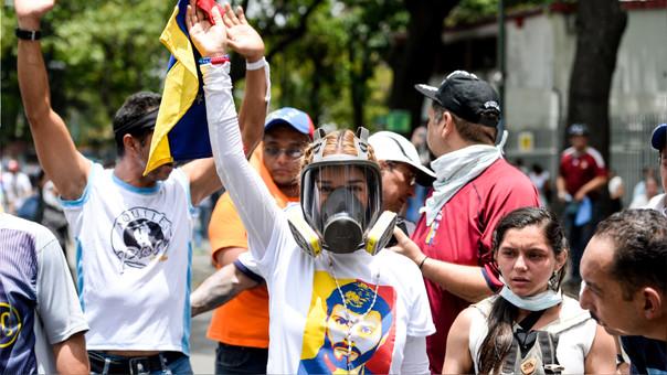 La oposición venezolana realiza protestas masivas en las principales ciudades del país. | Fuente: AFP or licensors | Fotógrafo: FEDERICO PARRA