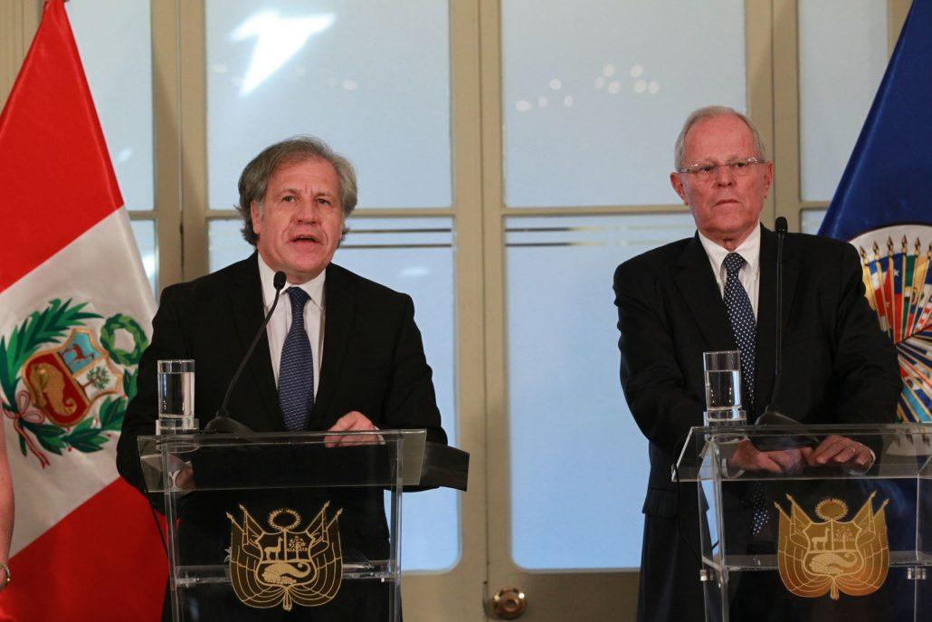 Secretario general de la OEA se reúne con Kuczynski en Lima