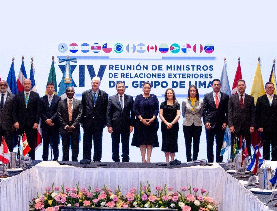 Declaración de la XIV Reunión de Ministros de Relaciones Exteriores del Grupo de Lima
